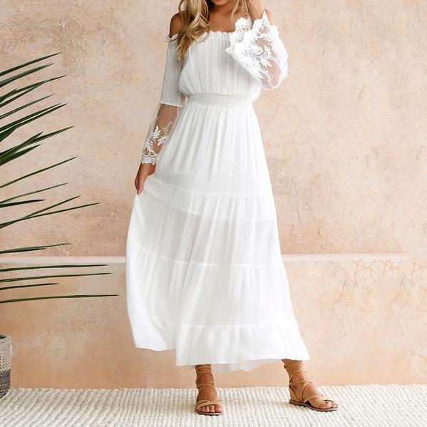 rochie casual albă