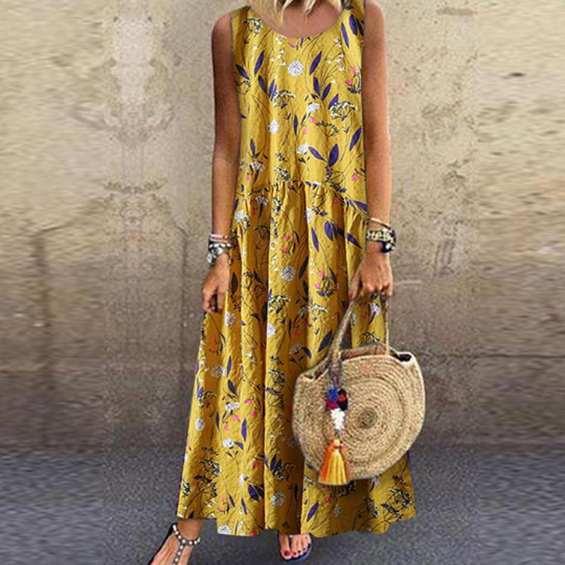 rochie casual galbenă vintage