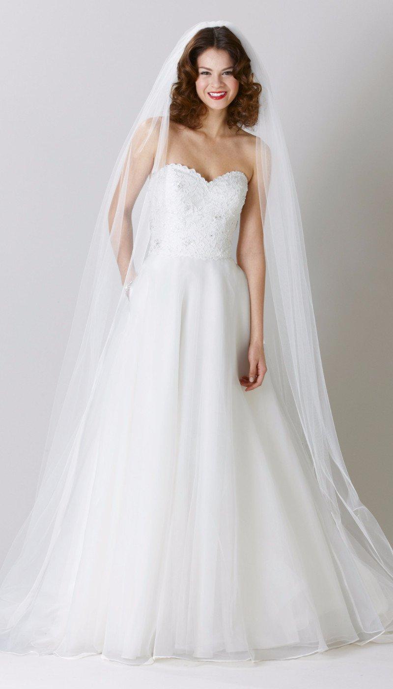 rochie de mireasă din organza culoare ivory