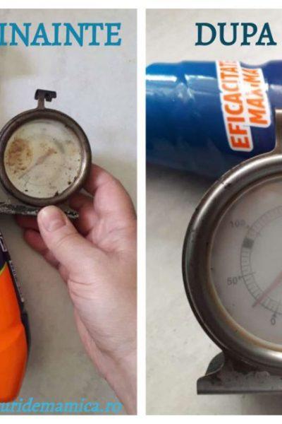 termometru curățat cu degresantul Asevi